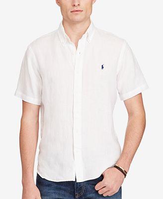 Polo Ralph Lauren Men's Short-Sleeve Linen Shirt - Casual Button ...
