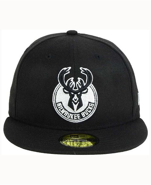 ... get new era. milwaukee bucks black white 59fifty cap. be the first to  write 8a89e0aed81c