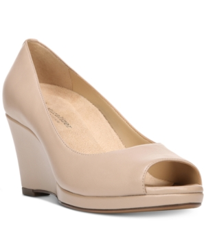 1940s Style Shoes Naturalizer Olivia Wedge Pumps Womens Shoes $99.00 AT vintagedancer.com