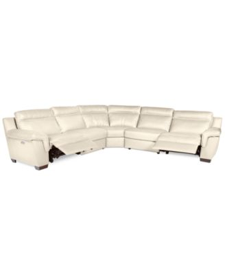 CLOSEOUT! Julius 5-pc Leather Sectional Sofa with 2 Power Recliners, Created for Macy's