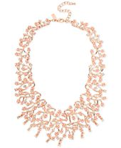 M. Haskell for INC International Concepts Rose Gold-Tone Imitation Pearl and Crystal Statement Necklace, Created for Macy's