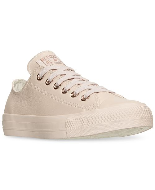 b652afaa1ad2 ... Converse Women s Chuck Taylor Pastel Leather Ox Casual Sneakers from  Finish ...