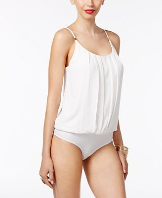 Thalia Sodi Blouson Bodysuit, Only at Macy's