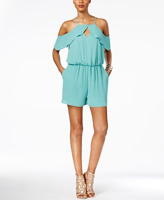 Thalia Sodi Cold-Shoulder Romper, Only at Macy's