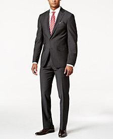 Tallia Men's Slim-Fit Black Pindot Suit