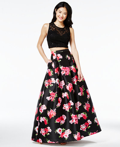 macys prom dresses floral