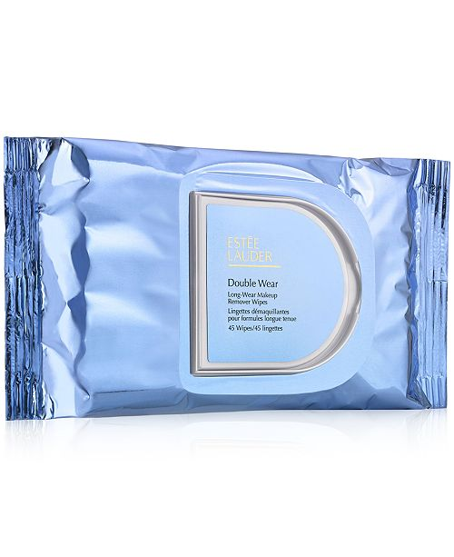 Estee Lauder Double Wear Long-Wear Makeup Remover Wipes - 45 Wipes