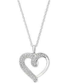 Diamond Heart Pendant Necklace (1/2 ct. t.w.) in 14k Gold or White Gold