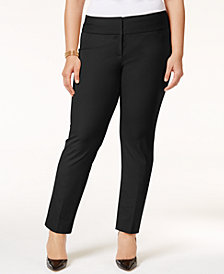Alfani Petite Plus Size Slim Tummy-Control Pants,  Created for Macy's