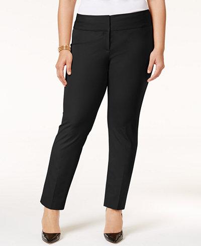 Alfani Plus & Petite Plus Size Straight-Leg Pants, Created ...