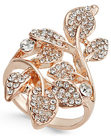 I.N.C. Rose Gold-Tone Pavé Multi-Leaf Ring, Created for Macy's