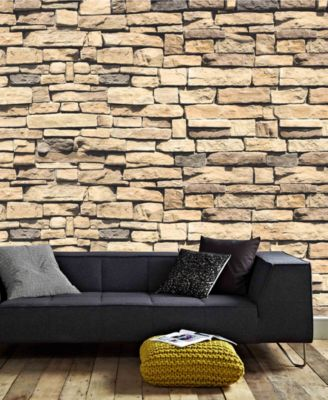 Graham Brown Dry Stone Wall Mural Wallpaper Wall Art Macys