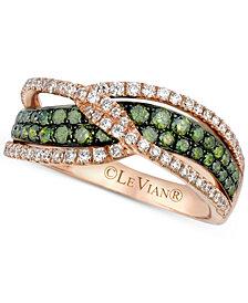 Le Vian Exotics® Diamond Crisscross Ring (1 ct. t.w.) in 14k Rose Gold