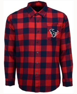 Men's Houston Texans Large Check Flannel Button Down Shirt