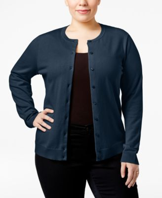 Karen Scott Plus Size Cardigan, Only at Macy's