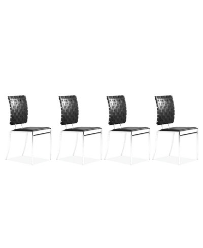 Bain Set of 4 Side Chairs, Quick Ship