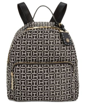JULIA MONOGRAM JACQUARD DOME BACKPACK, CREATED FOR MACY'S