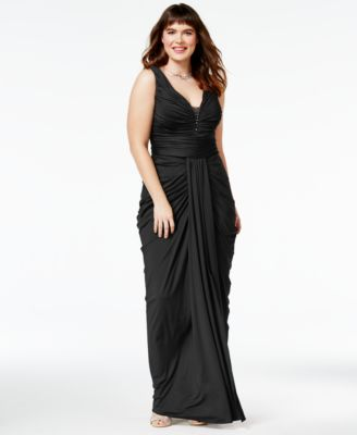 City Chic Trendy Plus Size Ruched Gown