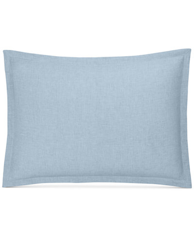 CLOSEOUT! Hotel Collection Cornflower Linen Standard Sham, Created for Macy's