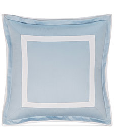 "Hotel Collection Contrast Flange 18"" Square Decorative Pillow, Created for Macy's"