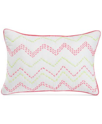 "Ziggy Embroidered Neon 12"" X 18"" Decorative Pillow"