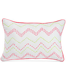 "bluebellgray Ziggy Embroidered Neon 12"" X 18"" Decorative Pillow"