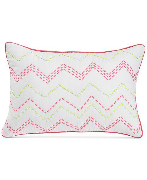 "bluebellgray Ziggy Embroidered Neon 12"" X 18"" Decorative Pillow"