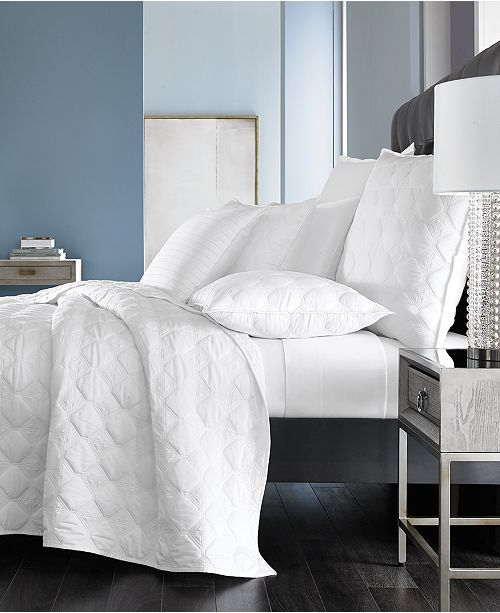 Hotel Collection Basic Cane Quilted Twin Coverlet, Created for Macy's