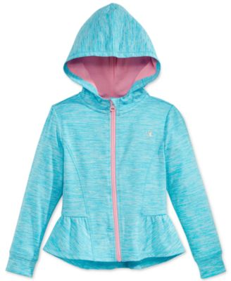 Image of Champion Space-Dye Peplum Hoodie, Toddler & Little Girls (2T-6X)