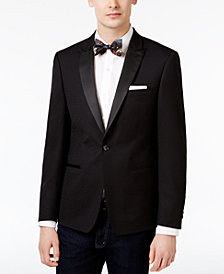 Calvin Klein Men's Slim-Fit Black Jacquard Dinner Jacket