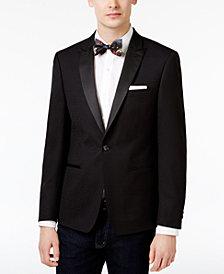 Calvin Klein Men's Slim-Fit Black Jacquard Dinner Jacket
