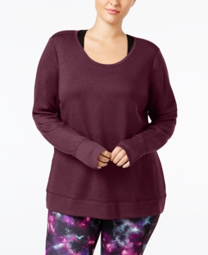 Ideology Plus Size Open-Back Top, Only at Macy's