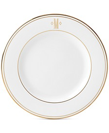 Federal Gold Monogram Salad Plate, Block Letters
