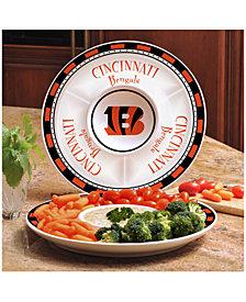 Memory Company Cincinnati Bengals Ceramic Round Chip & Dip Plate