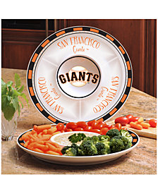 Memory Company San Francisco Giants Ceramic Round Chip & Dip Plate