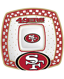 Memory Company San Francisco 49ers Gameday Ceramic Chip & Dip Plate