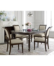 Syrah Dining Furniture 7 Pc Set Table 4 Side Chairs