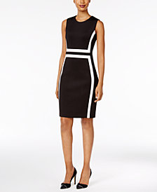 Calvin Klein Petite Colorblocked Sheath Dress