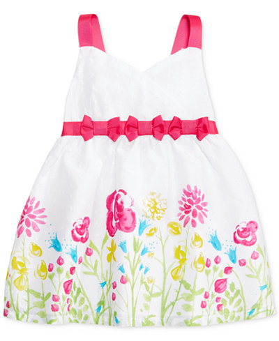Penelope Mack Floral Bows Dress, Baby Girls (0-24 months)