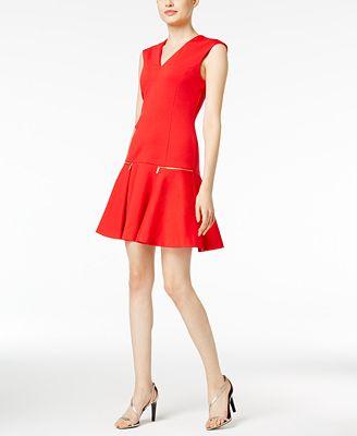 MICHAEL Michael Kors Zip-Pocket Fit & Flare Dress
