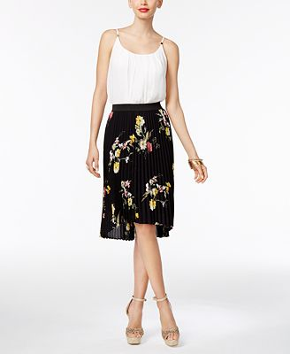 Thalia Sodi Blouson Bodysuit & Pleated Skirt, Only at Macy's