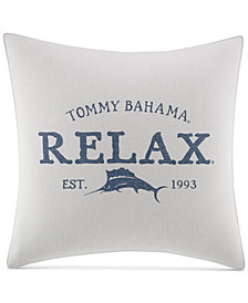 "CLOSEOUT! Tommy Bahama Home Raw Coast 20"" Square Relax Decorative Pillow"
