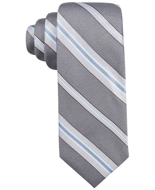 Ryan Seacrest Distinction Men's Imperial Stripe Slim Tie, Created for Macy's