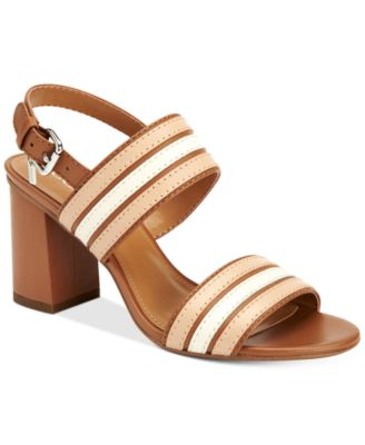 coach clearance outlet online v0m0  COACH Princeton Block-Heel Dress Sandals