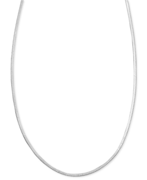 "Giani Bernini Sterling Silver Necklace, 30"" Square Snake Chain"