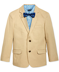 Tommy Hilfiger 3-Pc. Fine Twill Blazer, Shirt & Bow Tie Separates, Big Boys