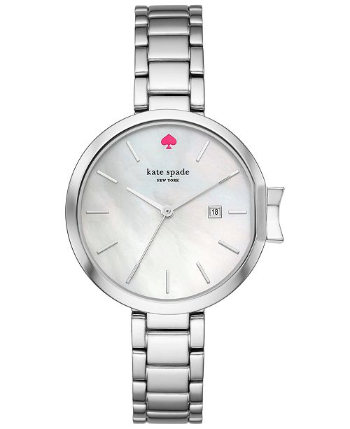 037d1c9fd ... kate spade new york Women's Park Row Stainless Steel Bracelet Watch  34mm KSW1267 ...