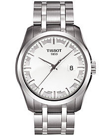 Tissot Men's Swiss Couturier Stainless Steel Bracelet Watch 39mm T0354101103100