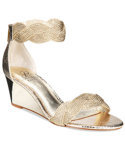 Adrianna Papell Adelaide Ankle Strap Wedge Evening Sandals
