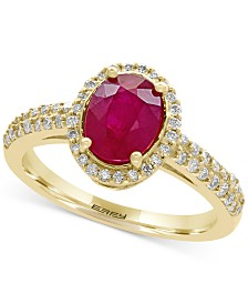 EFFY® Amoré Certified Ruby (1-3/8 ct. t.w.) and Diamond (1/3 ct. t.w.) Ring in 14k Gold, Created for Macy's